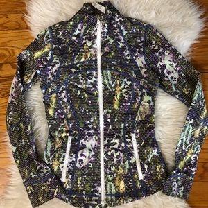Lululemon define jacket in floral multi size 4